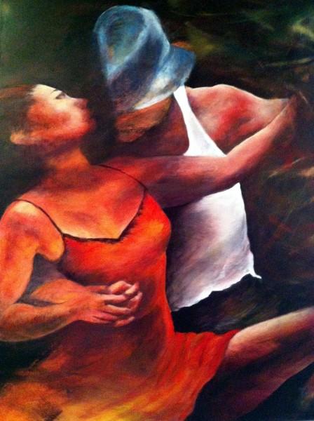 Burret Françoise_Danseurs de salsa